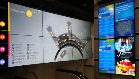 digital signage_industries_airport