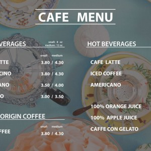 Digital signage for coffee shop_cafe